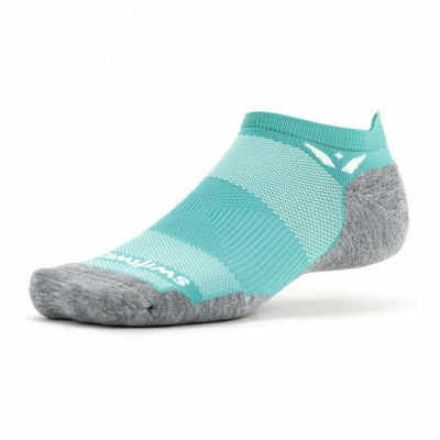 Swiftwick Maxus Zero No Show Tab Socks - Small / Waterfall Blue