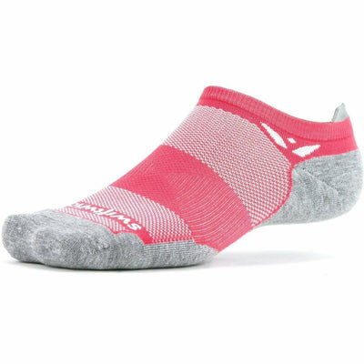 Swiftwick Maxus Zero No Show Tab Socks - Small / Watermelon