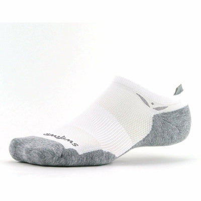 Swiftwick Maxus Zero No Show Tab Socks - Small / White