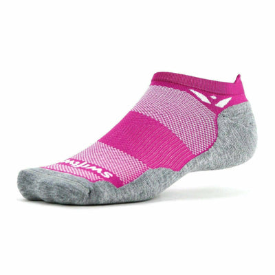 Swiftwick Maxus Zero No Show Tab Socks - Small / Wildflower Pink