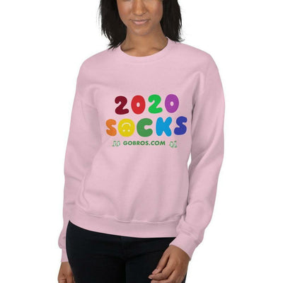 GoBros.com 2020 Socks Multicolor Unisex Sweatshirt - Light Pink / S