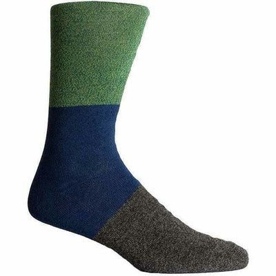 Richer Poorer Mens Riker Crew Socks One Size Fits Most / Green/Blue