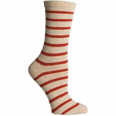 Richer Poorer Womens Nora Crew Socks - One Size Fits Most / Oatmeal/Orange
