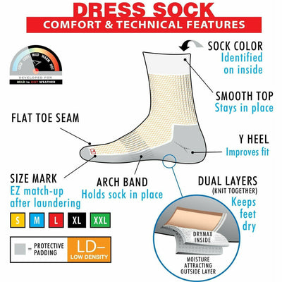 Drymax Dress Over-The-Calf Socks