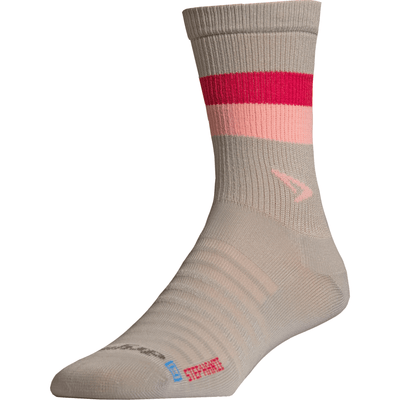 Drymax Hyper Thin Running Crew Socks - Small / Gray/Pink