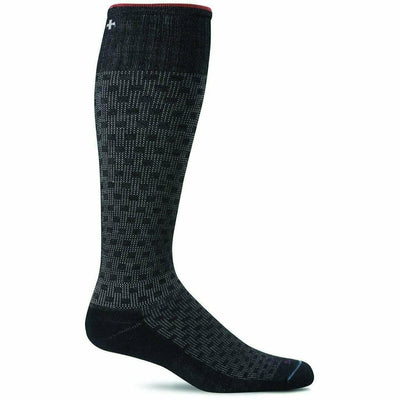 Sockwell Mens Shadow Box Moderate Compression OTC Socks Medium/Large / Black
