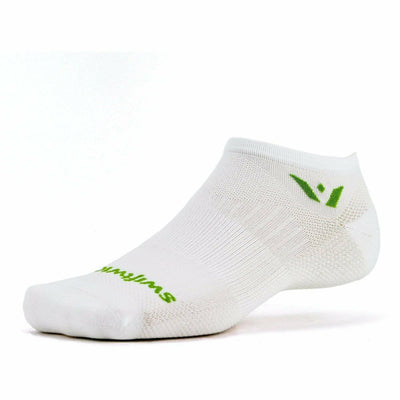 Swiftwick Aspire Zero GoBros Exclusive No Show Socks - Medium / White Green