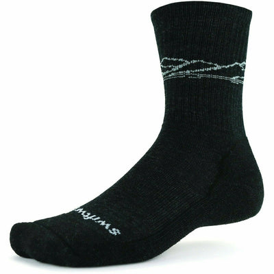 Swiftwick Pursuit Six Light Hike Socks - Medium / Charcoal Mountain