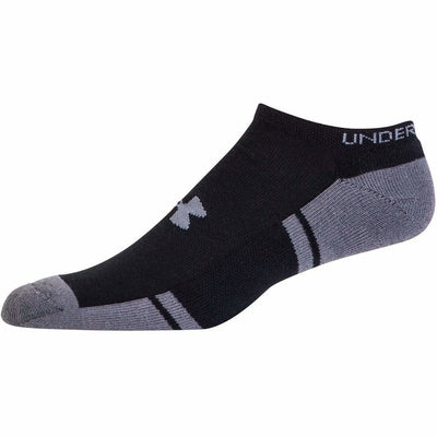 Under Armour Resistor 3 No-Show Socks Youth Large / Black/Graphite