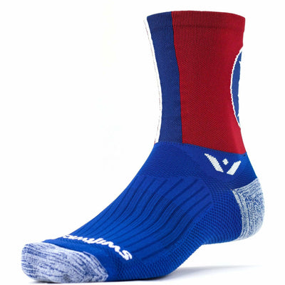 Swiftwick Vision Five Crew Socks - Small / Tennessee Spirit