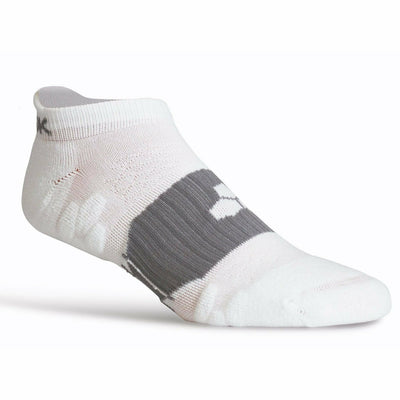 Fitsok RX6 Lightweight No Show Tab Socks - Small / White
