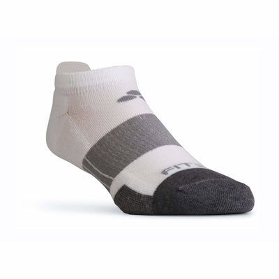 Fitsok NP7 Midweight No Show Tab Socks Small / White/Gray