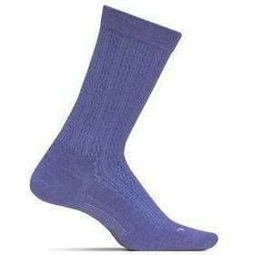 Feetures Everyday Womens Texture Ultra Light Crew Socks Small / Lavender
