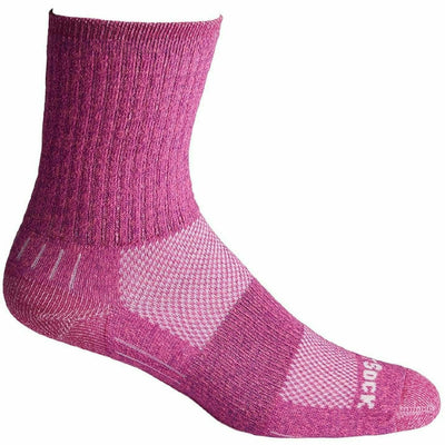 Wrightsock Escape Midweight Crew Socks - Small / Pink
