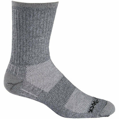Wrightsock Escape Midweight Crew Socks - Small / Ash Twist