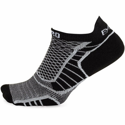 Thorlo Experia ProLite No-Show Tab Socks X-Small / Black/White