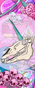 Creepy unicorn Bookmarks