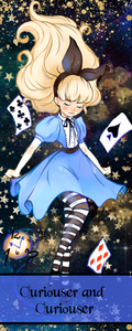 Alice In Wonderland Inspired Bookmarks