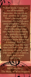 The Music Of What happens Bookmark