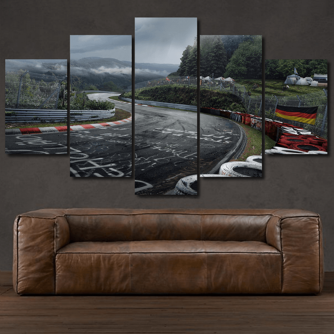 Nurburgring Race Track - 5 Piece Canvas
