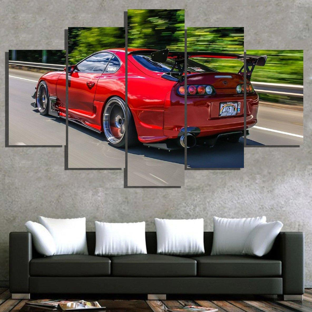 Toyota Supra Red - 5 Piece Canvas
