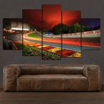 Night Race Track - 5 Piece Canvas