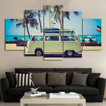 Surfer Van - 5 Piece Canvas