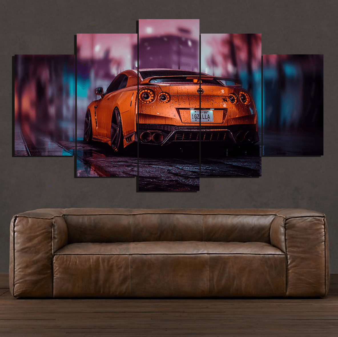 Nissan GTR - 5 Piece Canvas