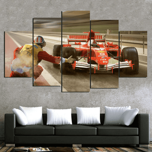 Formula One Race Track - 5 Piece Canvas