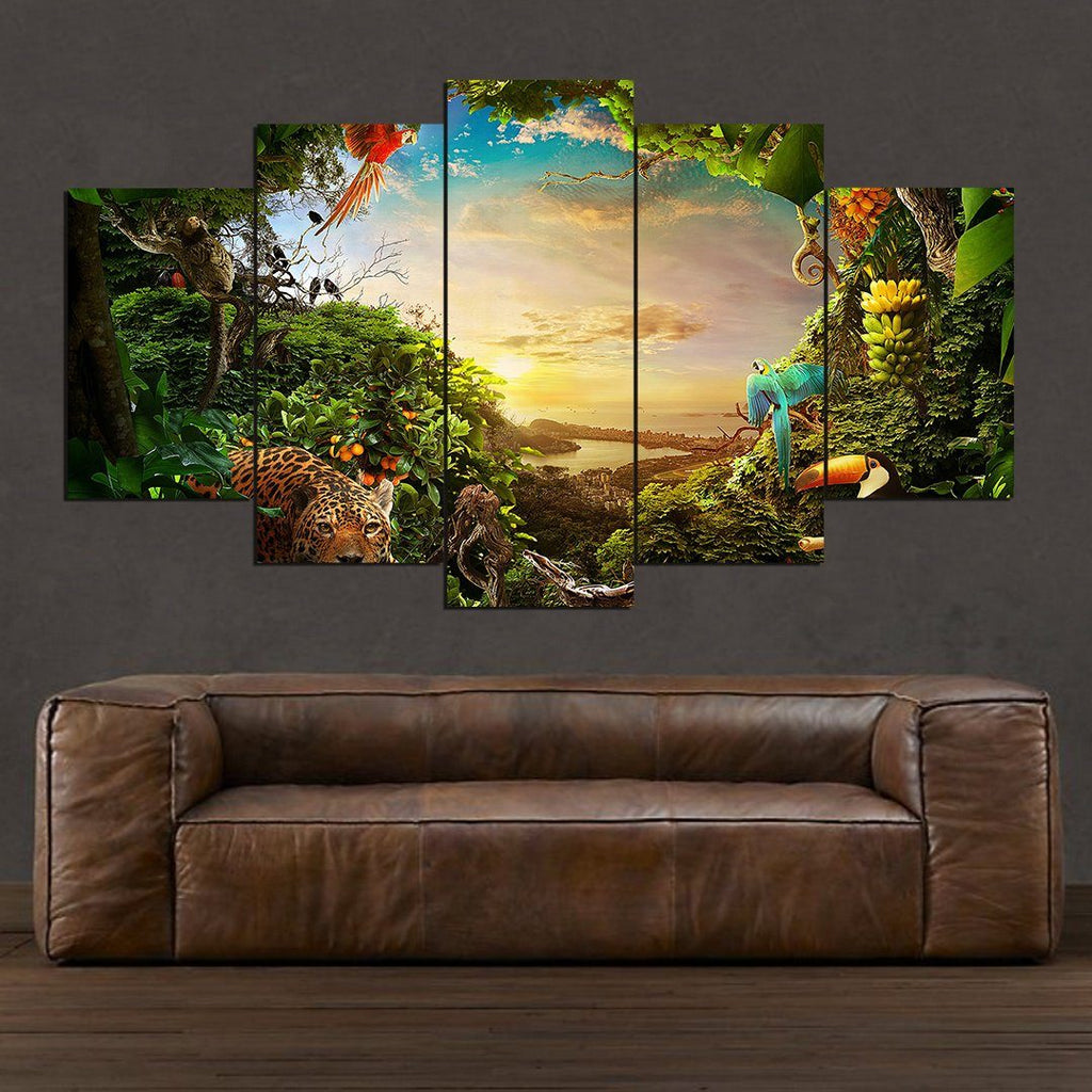 Amazonia Forest - 5 Piece Canvas