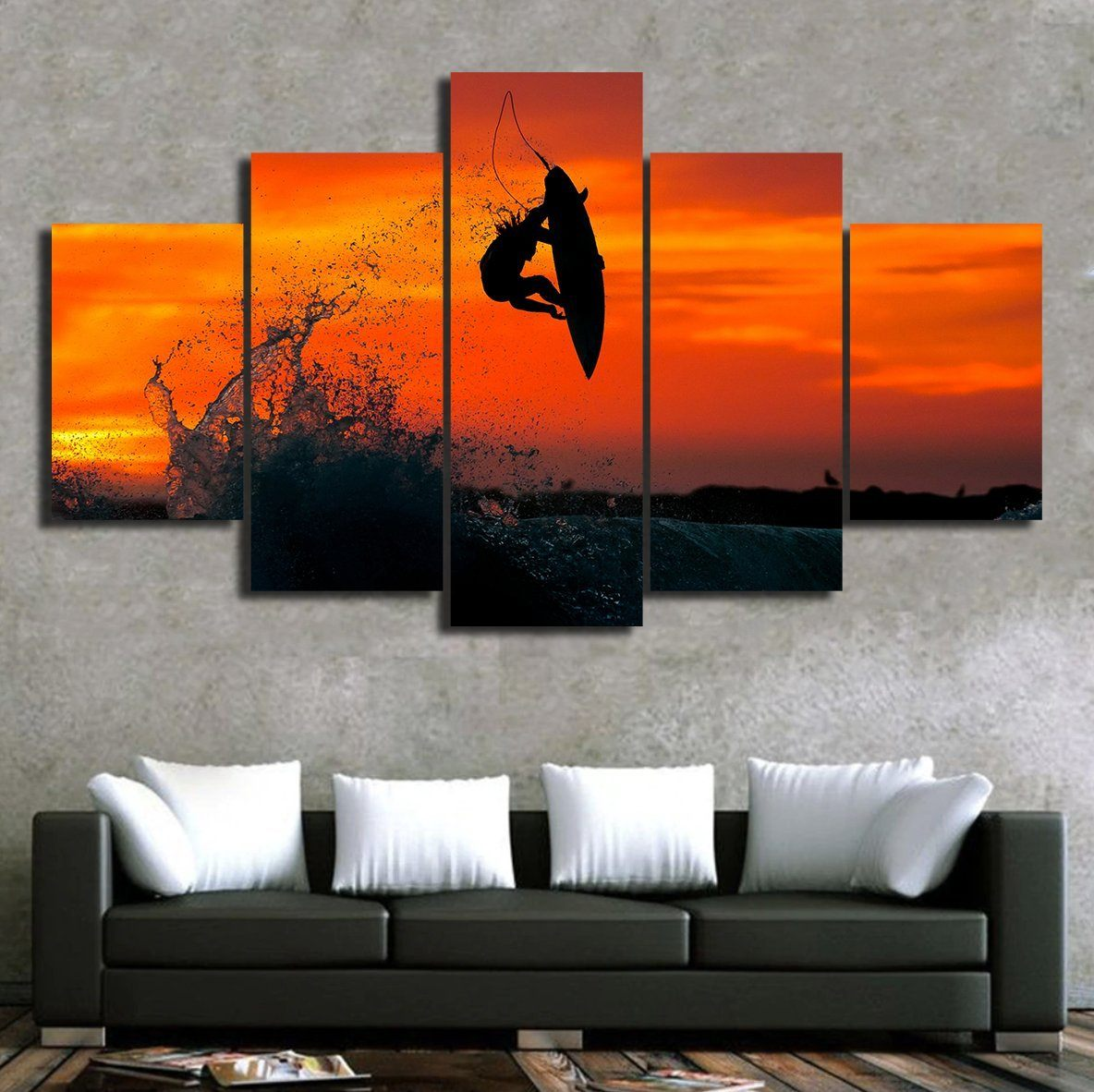 Surf Sunset Canvas