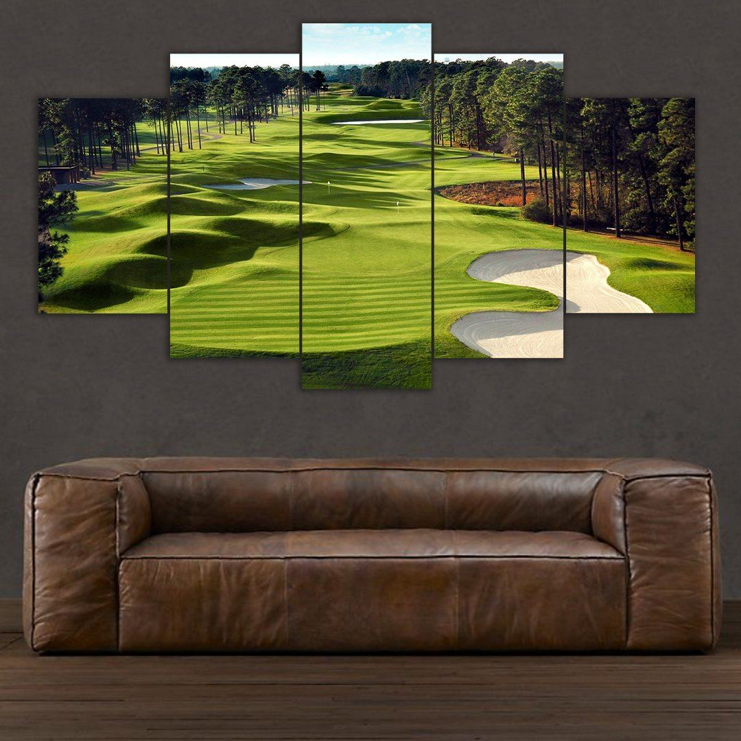 Golf Course - 5 Piece Canvas