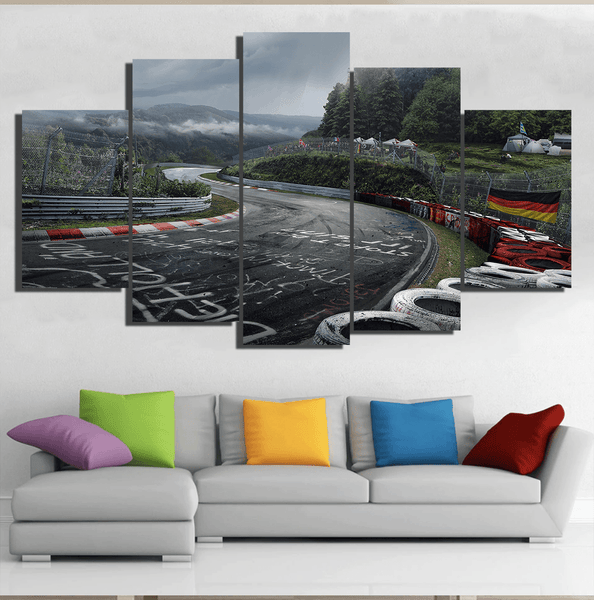 Nurburgring Race Track 5 Piece Canvas Canvany