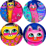 Colorful Cats Canvas