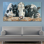 Colourful Cows Canvas - Limited Edition