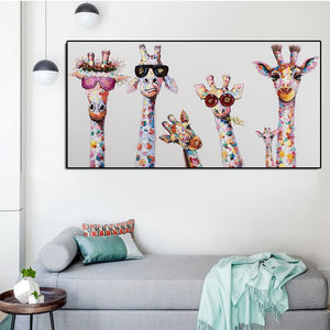 Family Giraffes Painting
