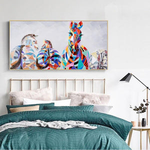 Modern Abstract Zebra Canvas