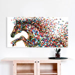 Jumping Horse Canvas