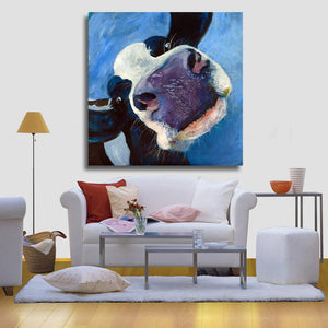 Funny Cow Canvas