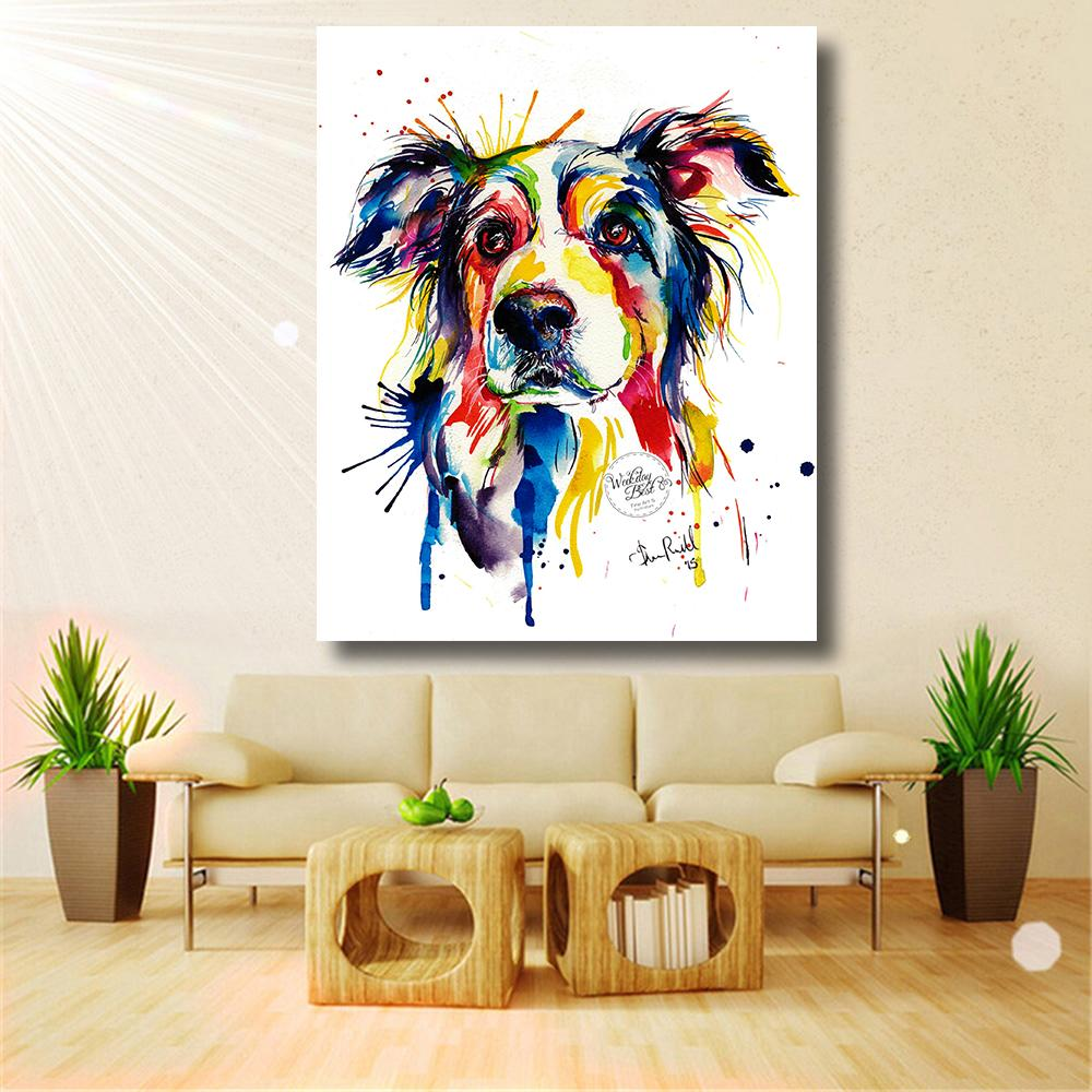 Coloful Dog Canvas