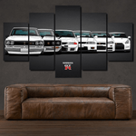 Nissan GT-R Collection Rare -  5 piece Canvas