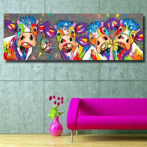 Colorful Cows Canvas - Limited Edition