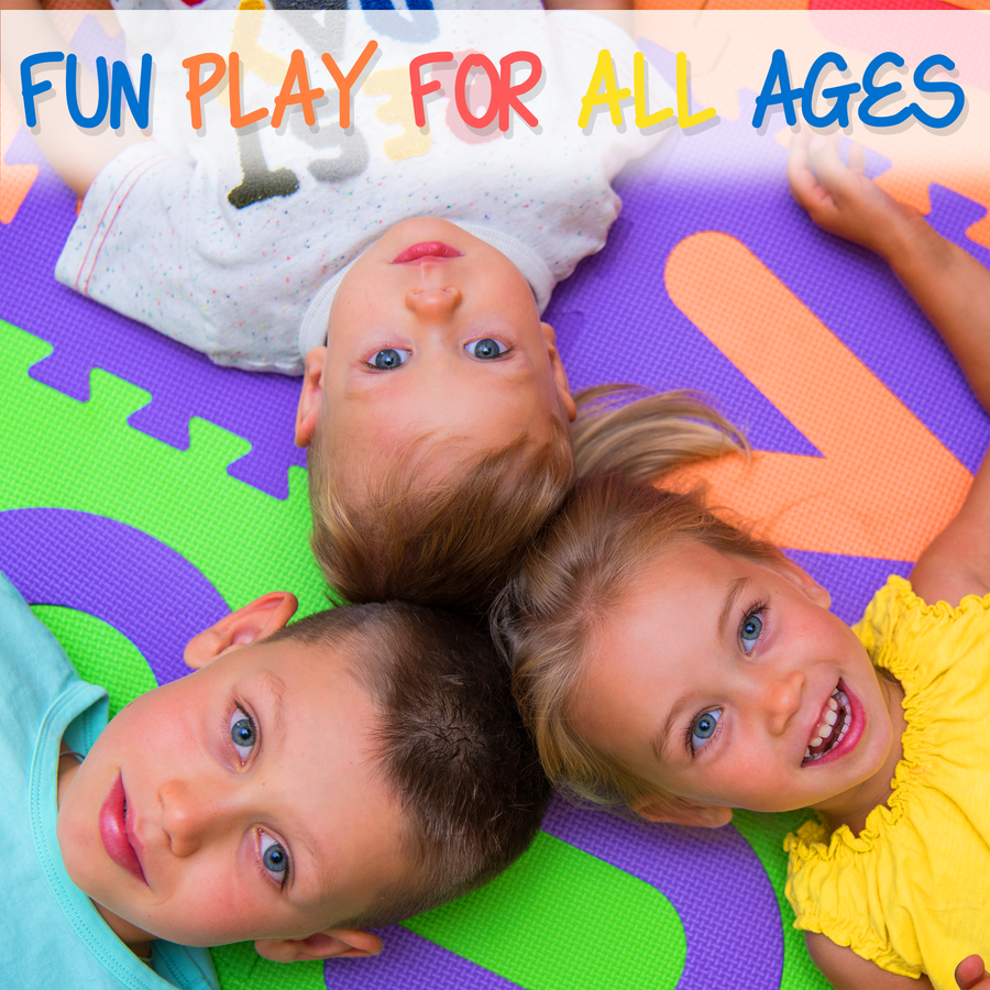 Foam Play Mat for Kids 100% NON-TOXIC 36 Tiles 12x12 Total Coverage 36 Sq Ft