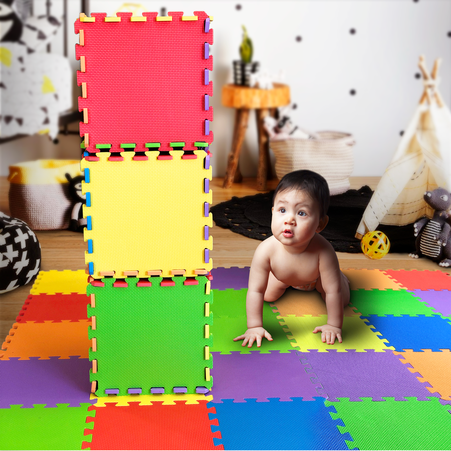 Kids Play Mat for Play & Exercise 36 Tiles 12x12 Total Coverage 36 Sq Ft