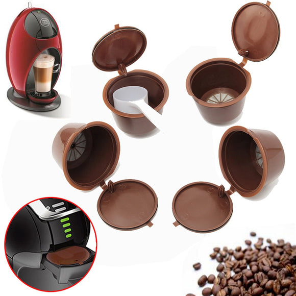 4Pcs/Set Coffee Capsule With 1PC Plastic Spoon
