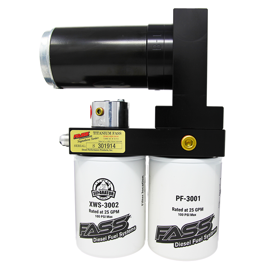 TITANIUM SIGNATURE SERIES DIESEL FUEL LIFT PUMP 140GPH@45PSI DODGE CUMMINS 5.9L 1994-1998 TS D10 140G