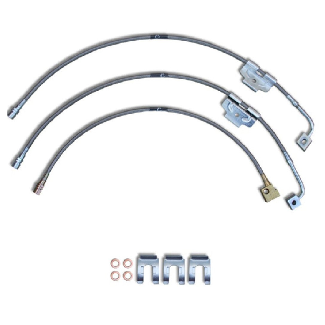 2003 to 2011 Dodge Ram Replacement Stainless Steel Braided Brake Lines