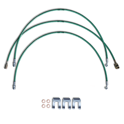 2002 to 2017 Dodge Ram 1500 Replacement Stainless Steel Braided Brake Lines