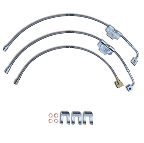 2003 to 2011 Dodge Ram 4X2 Stainless Steel Braided Brake Lines