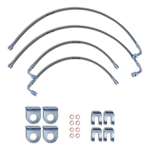 "2009 to 2018 Ford F-150 Series 4WD 0""-12"" Lift Stainless Steel Brake Line Kit"